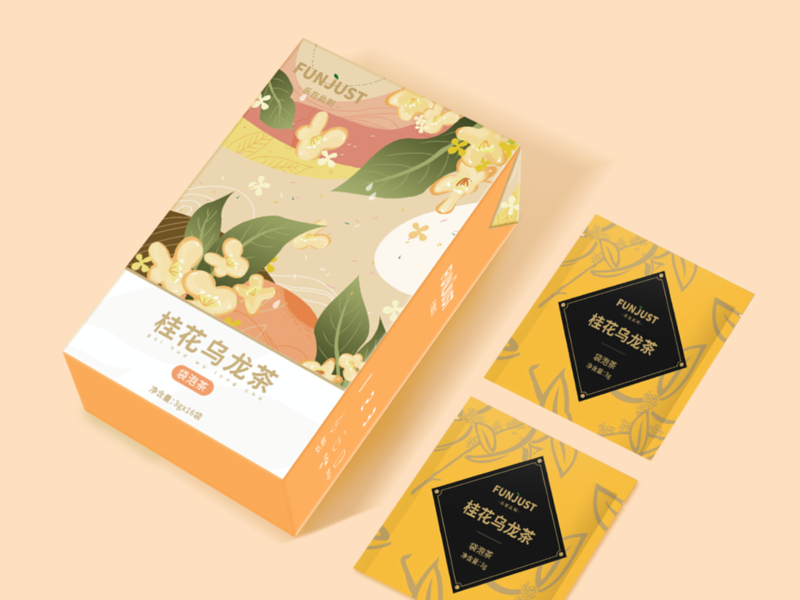 Osmanthus oolong tea Packaging Design