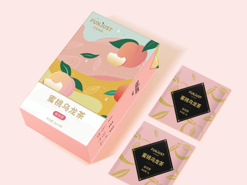 Peach Oolong Tea  Packaging Design