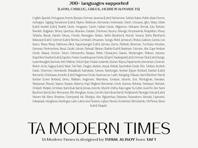 TA Modern Times freefont font design cyrillic central european bold graphic design logotype branding design logo typeface font