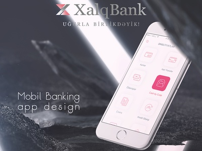Mobile Banking app design concept for Xalq Bank app design ux ui concept mobile-banking