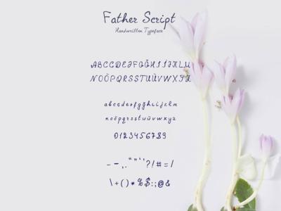 Father Script Handwritten Font