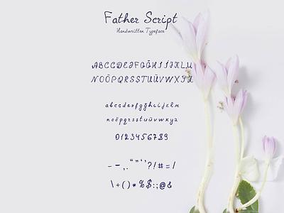 Father Script Handwritten Font script font handwritten handwriting fonts handmade handmade font father script font typeface font