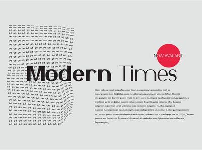 Modern Times Typeface
