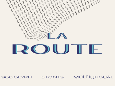 La Route Typeface