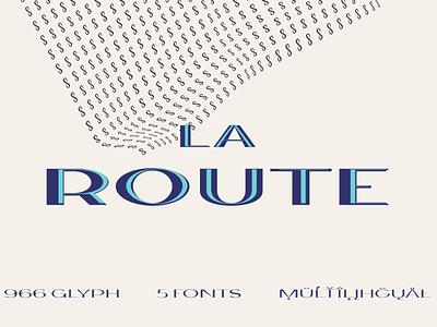 La Route Typeface georgian design logo font typeface fonts cyrillic central european bold typeface font