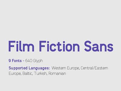 Film Fiction Sans | TYPEFACE black extrabold semlight light graphic design fonts central european branding bold design logo typeface font