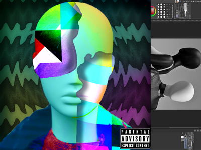 Trippy Album Design holographic psychedelic vaporwave album design cover art cover design album cover packaging design product design marketing graphic design design branding
