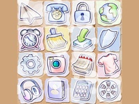 Paper World Icons