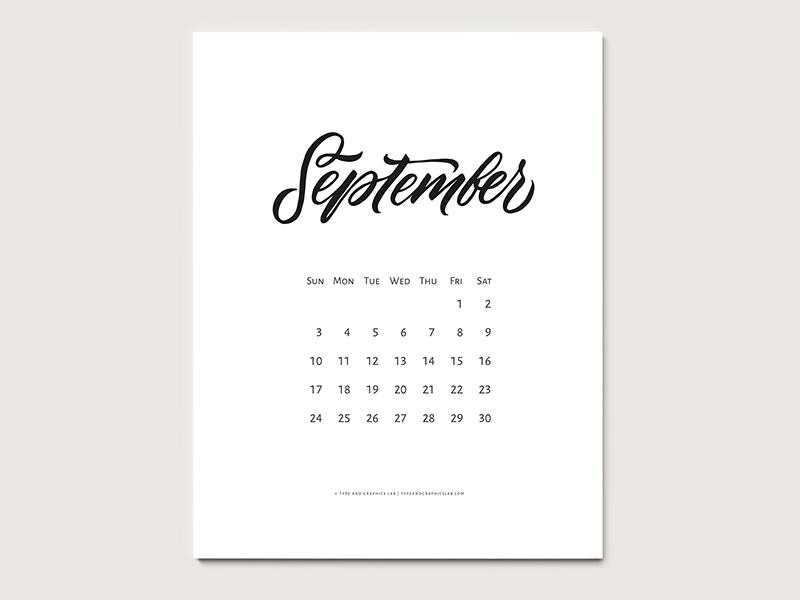 free printable calendar september 2017 by svetlana postikova