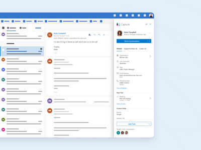 Outlook Add-in form profile capsule panel fluent microsoft crm contacts addon add-on addin add-in outlook