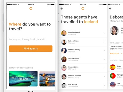 Travel Agent Search holiday vacation list agents app search travel