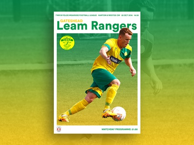 Matchday Programme print programme soccer football