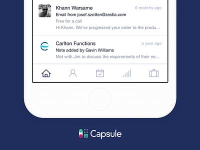 Death to the hamburger crm capsule app mobile nav navigation tab