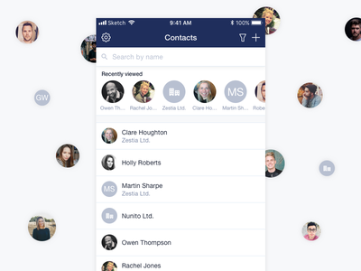 Recently viewed contacts crm recent list app capsule mobile contacts