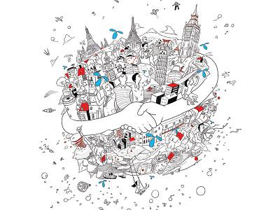 Dtac advertising illustration