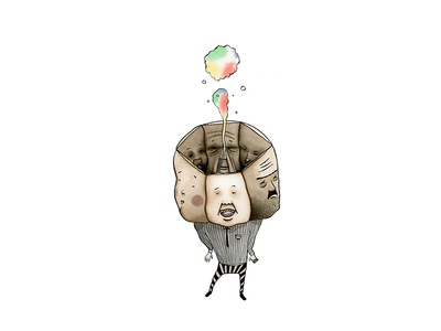 Man in His Early Thirties (1/5) watercolor illustration