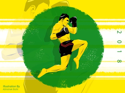 Be Strong..!! minimalart vectorgraphics digitalart sports poster creative art illustration
