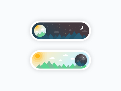 Day Switch Button daily dark bright off on clean button switch night day illustration