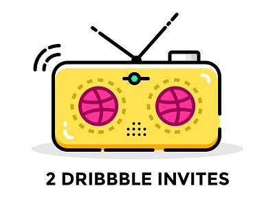 2 Dribbble Invites player invites dribbble invitation