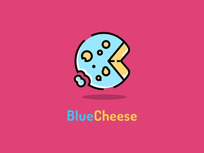 Blue Cheese Logo illustration blue cheese cute cheese logo