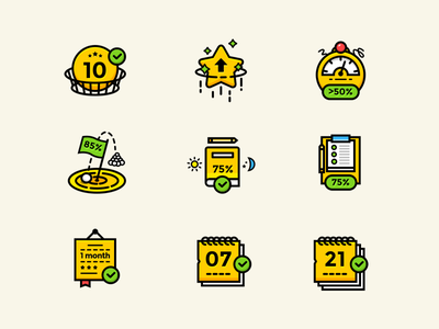 Gamification Icon Set game sketch illustration set icon gamification