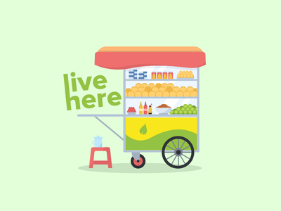 Street Cart cart food street sketch illustration vietnam