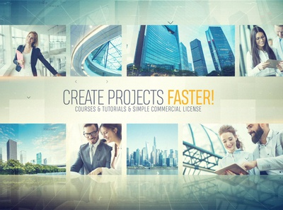 Corporate Logo Opener 1080 After Effects Template