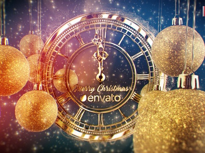Gold New Year Countdown After Effects Template