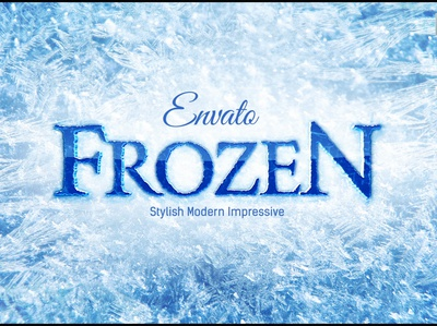 Frozen Ice Logo After Effects Template