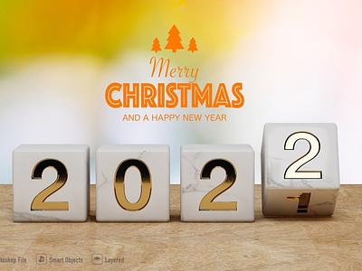 Happy New Year mockup on soft color illustration logo motion graphics ui icon graphic design design branding app animation 3d