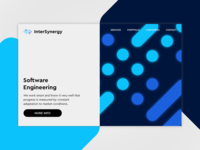 InterSynergy - landing page/logo concept