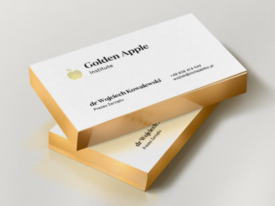 golden apple business cards by jedrzej rayski dribbble golden apple business cards colourmoves