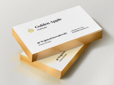 golden apple business cards by jedrzej rayski dribbble golden apple business cards reheart Image collections