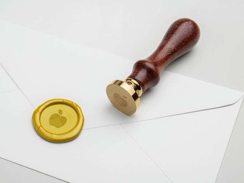Stamp / Logo for Golden Apple labyrinth maze design coaching golden apple logo stamp