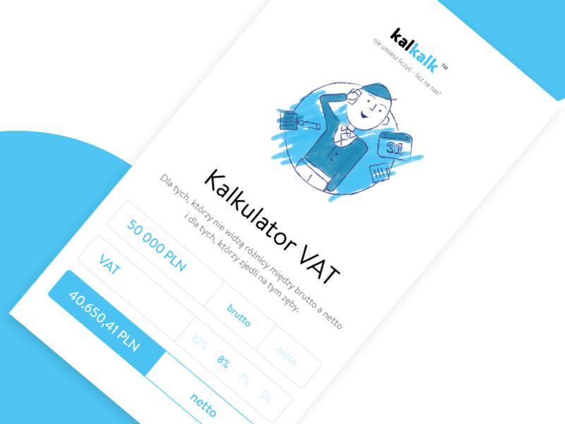 VAT Calculator - Daily UI #004 illustration minimal ui sketch calculator dailyui