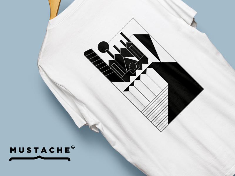 Wroclaw T-shirt for Mustache wrocław illustration t-shirt