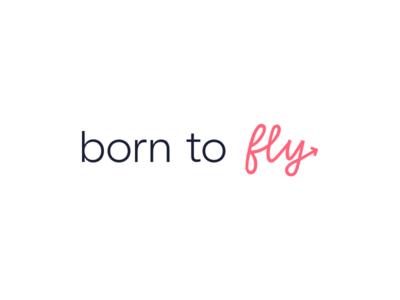 Born to Fly Logo social media business cards minimal design typography startup logo