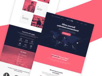 Website for Born to Fly website sketch ux startup