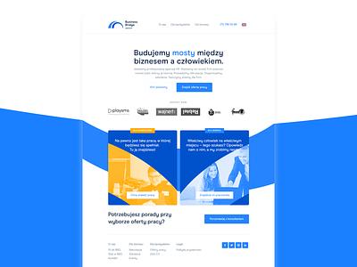 NEW: Business Bridge Group Website website minimal design logo