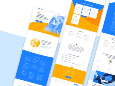 Business Bridge Group Website sketch startup minimal website
