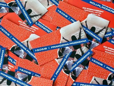 KONKRET. Flyers branding minimal design event