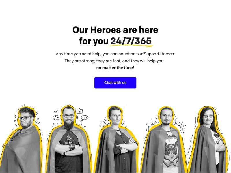 LiveChat Heroes branding design minimal
