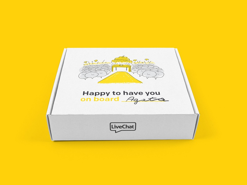 Welcome Pack for LiveChat design minimal illustration branding welcome pack