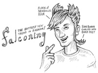 Falconing: The Hot New Fashion Trend - Daily Line Art