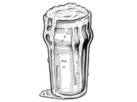 """Have a Nice Cold Pint..."" (Shaun of the Dead) - Daily Line Art"