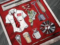 Shaun of the Dead - Illustration Series Poster