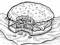 Big Kahuna Burger - Pulp Fiction Prop Illustration