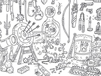 """The Armory"" Adult Coloring Page"