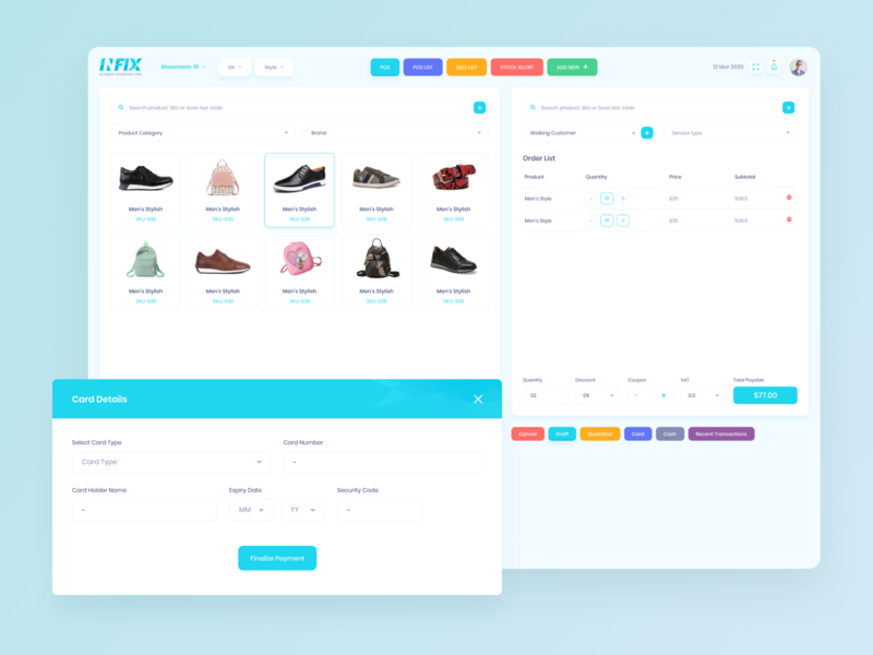 Infix- Inventory Management (POS) Software minimal lettering illustration icon graphic flat design clean character brand art animation app 3d branding ios ux ui dashboard admin