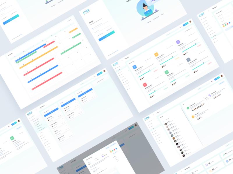 Infix-Project Management Tool Exploration-02 ux ios colorful b2b simple illustration web design web app application branding color admin minimal 3d app software dashboard design saas
